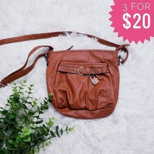 Rosetti orange shoulder crossbody bag purse